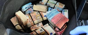 Undated Garda handout photo of 200,000 euro (£170,000) that was seized by Gardai after it was concealed in a vehicle in Dublin. PRESS ASSOCIATION Photo. Issue date: Saturday August 27, 2016. A man aged 39 was arrested at the scene near the Fonthill Road by drugs and organised crime investigators at about 1pm on Saturday. See PA story CRIME Cash Ireland. Photo credit should read: Garda/PA Wire NOTE TO EDITORS: This handout photo may only be used in for editorial reporting purposes for the contemporaneous illustration of events, things or the people in the image or facts mentioned in the caption. Reuse of the picture may require further permission from the copyright holder.